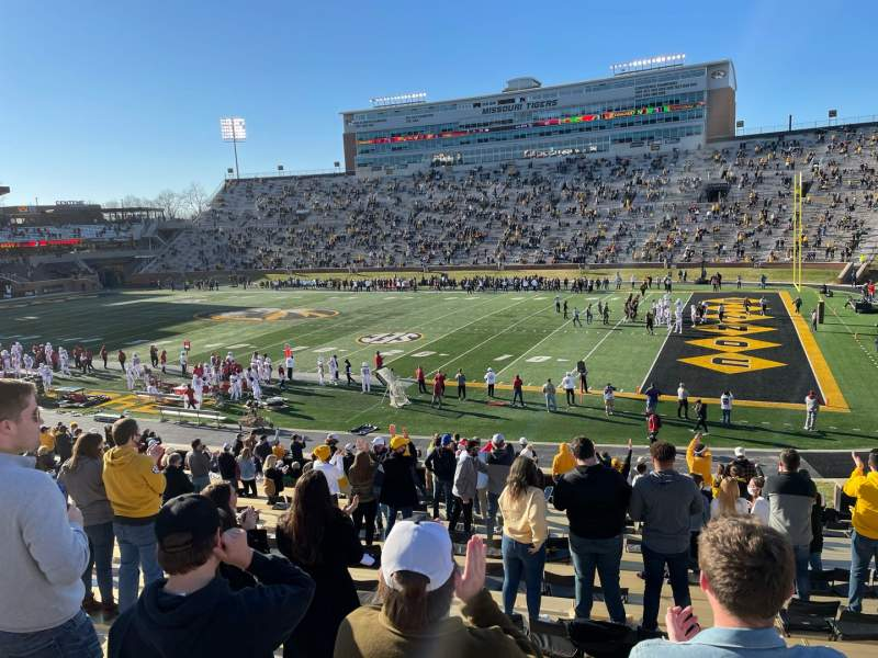Seating view for Faurot Field Section 109 Row 31 Seat 16