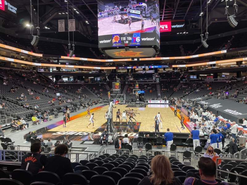 Seating view for PHX Arena Section 108 Row 13 Seat 5