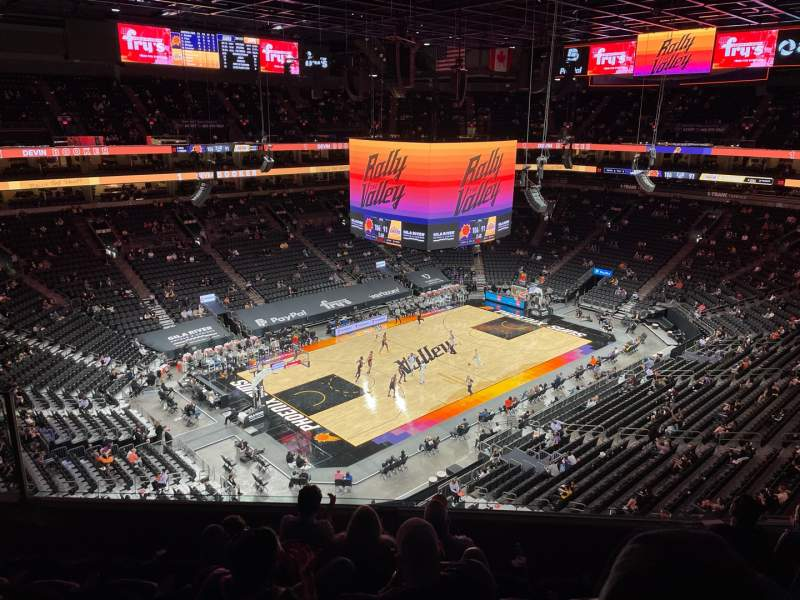 Seating view for PHX Arena Section 223 Row 6 Seat 13