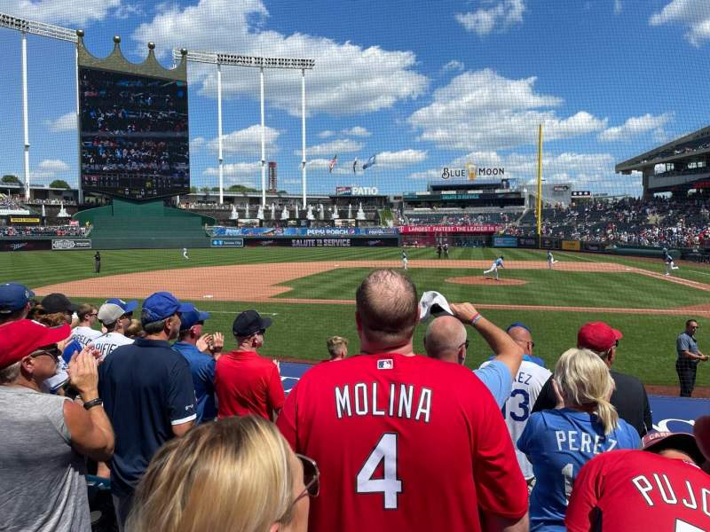 Seating view for Kauffman Stadium Section 122 Row G Seat 2