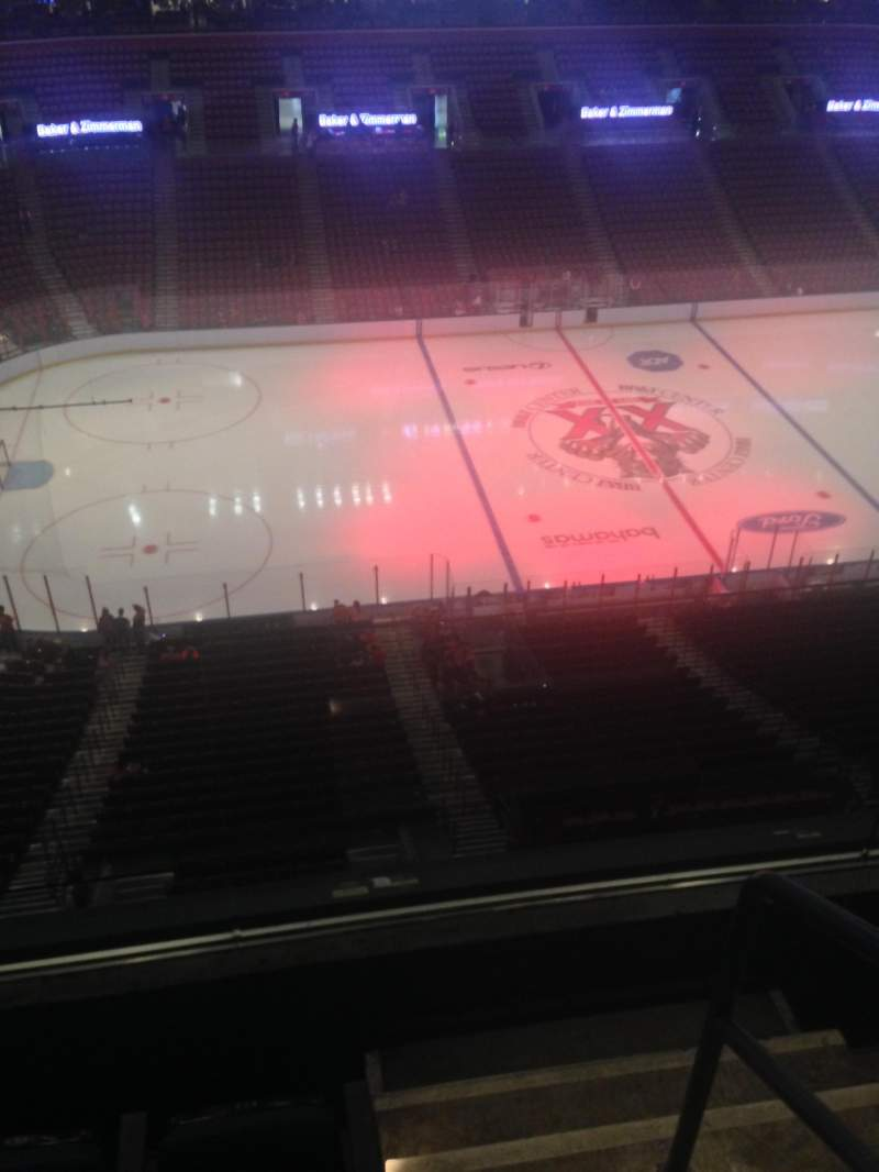 Seating view for BB&T Center Section 403 Row 2 Seat 1