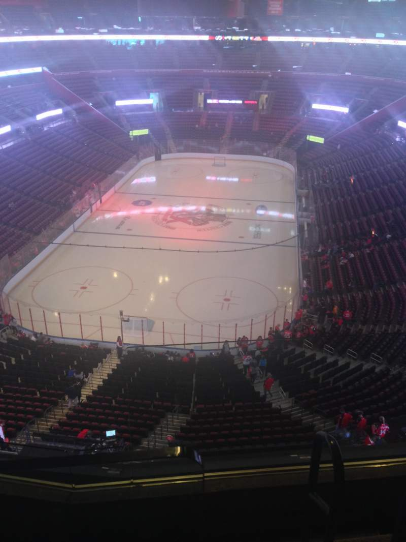 Seating view for BB&T Center Section 409 Row 2 Seat 1