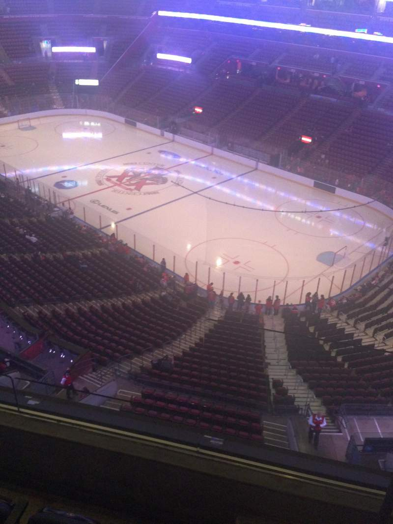 Seating view for BB&T Center Section 414 Row 2 Seat 1