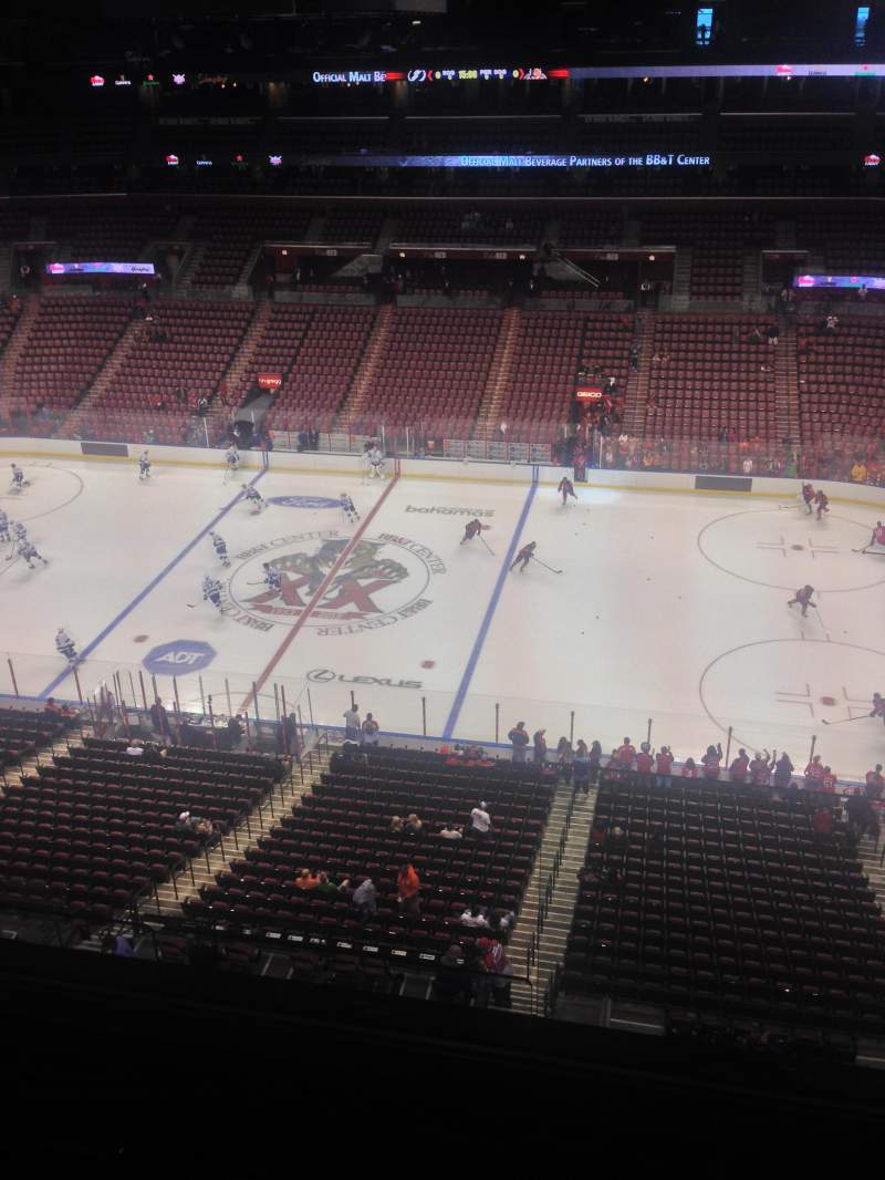 Seating view for BB&T Center Section 417 Row 2 Seat 1