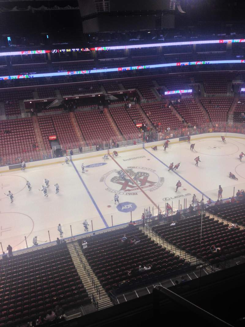 Seating view for BB&T Center Section 420 Row 2 Seat 1