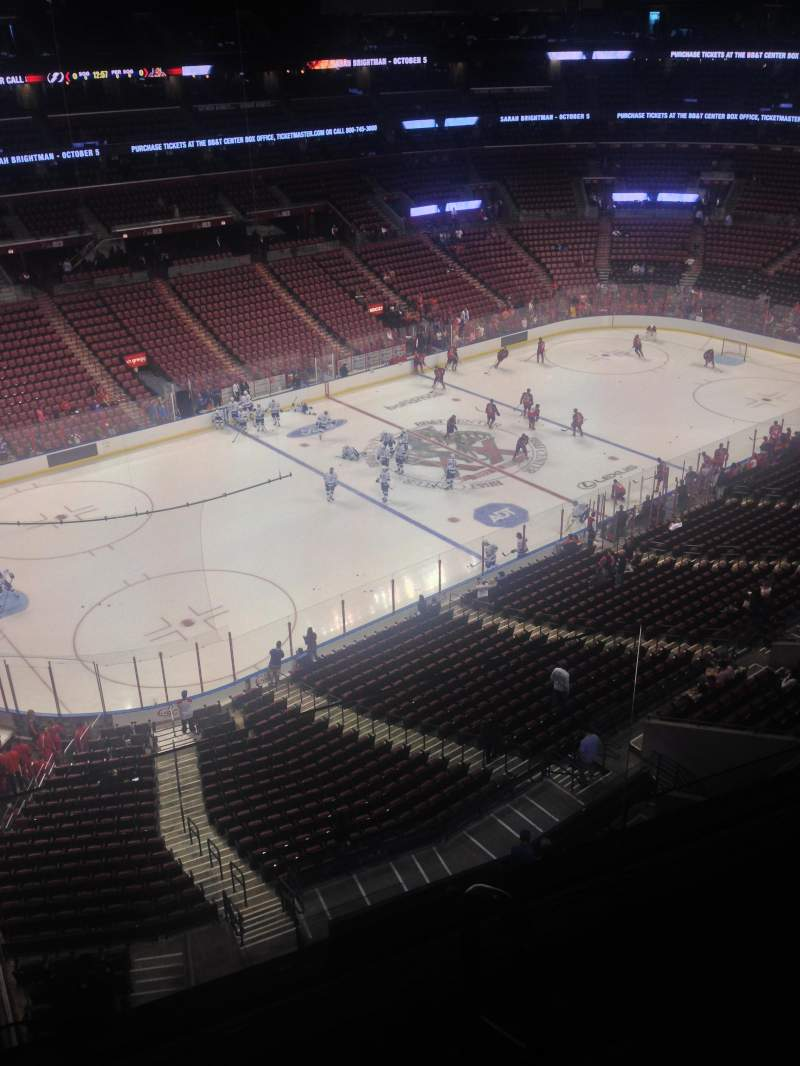 Seating view for BB&T Center Section 422 Row 2 Seat 1
