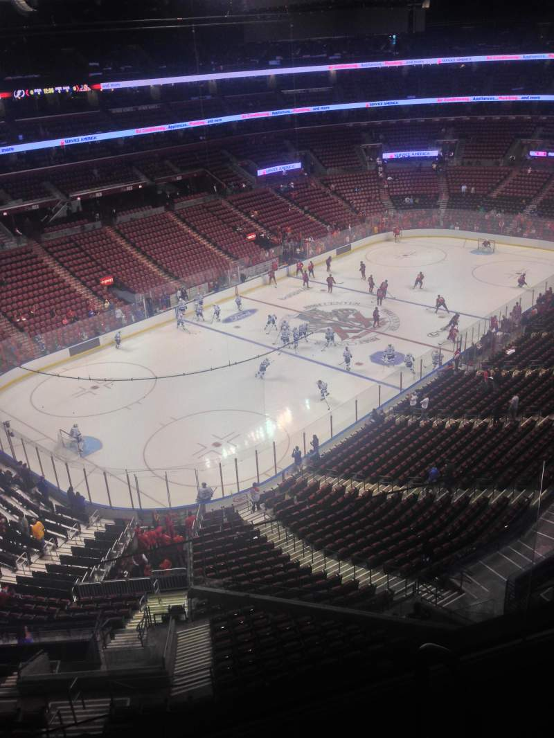 Seating view for BB&T Center Section 423 Row 2 Seat 1