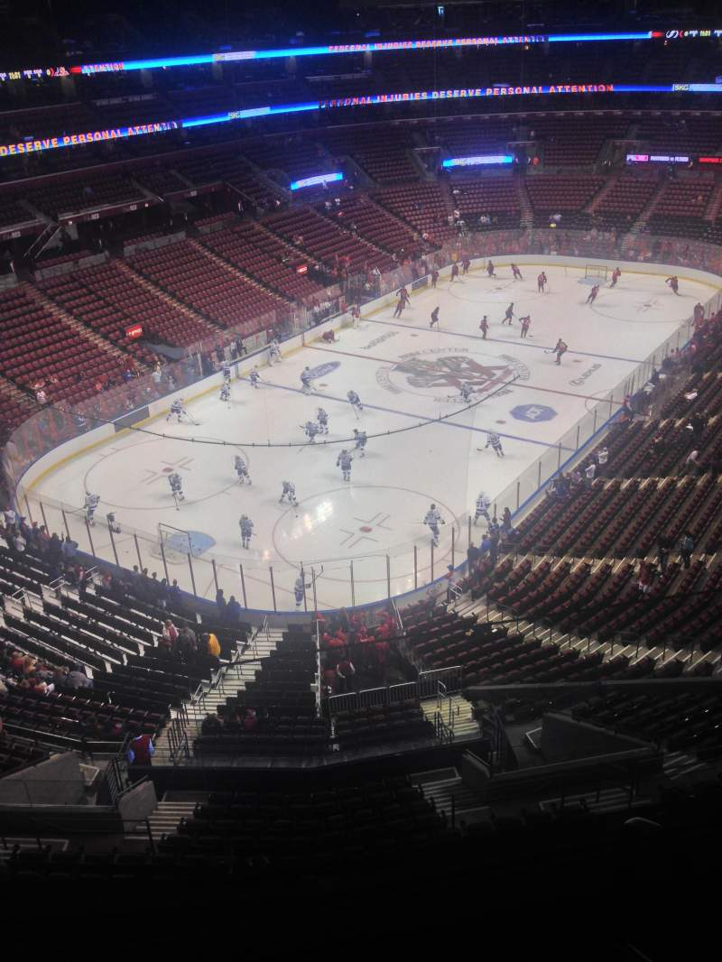 Seating view for BB&T Center Section 424 Row 2 Seat 1
