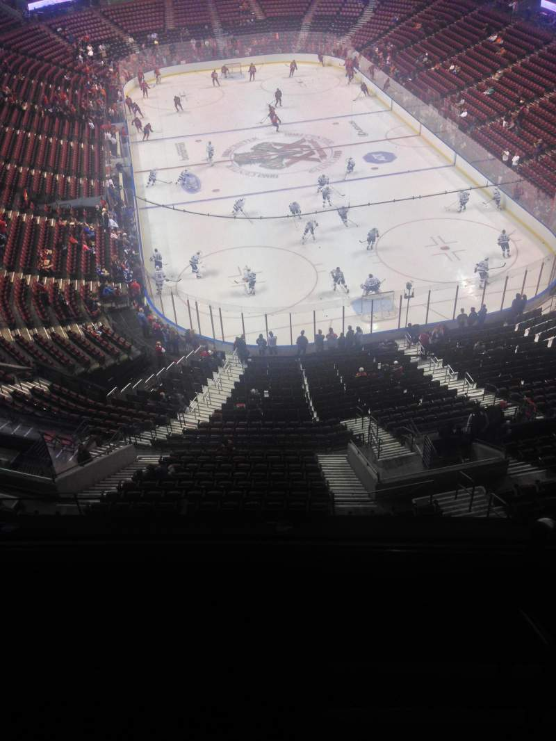 Seating view for BB&T Center Section 428 Row 2 Seat 1