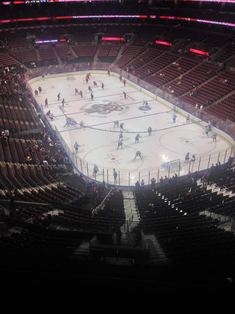 Seating view for BB&T Center Section 429 Row 2 Seat 1