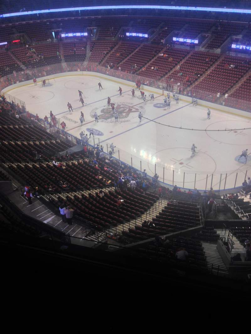 Seating view for BB&T Center Section 431 Row 2 Seat 1
