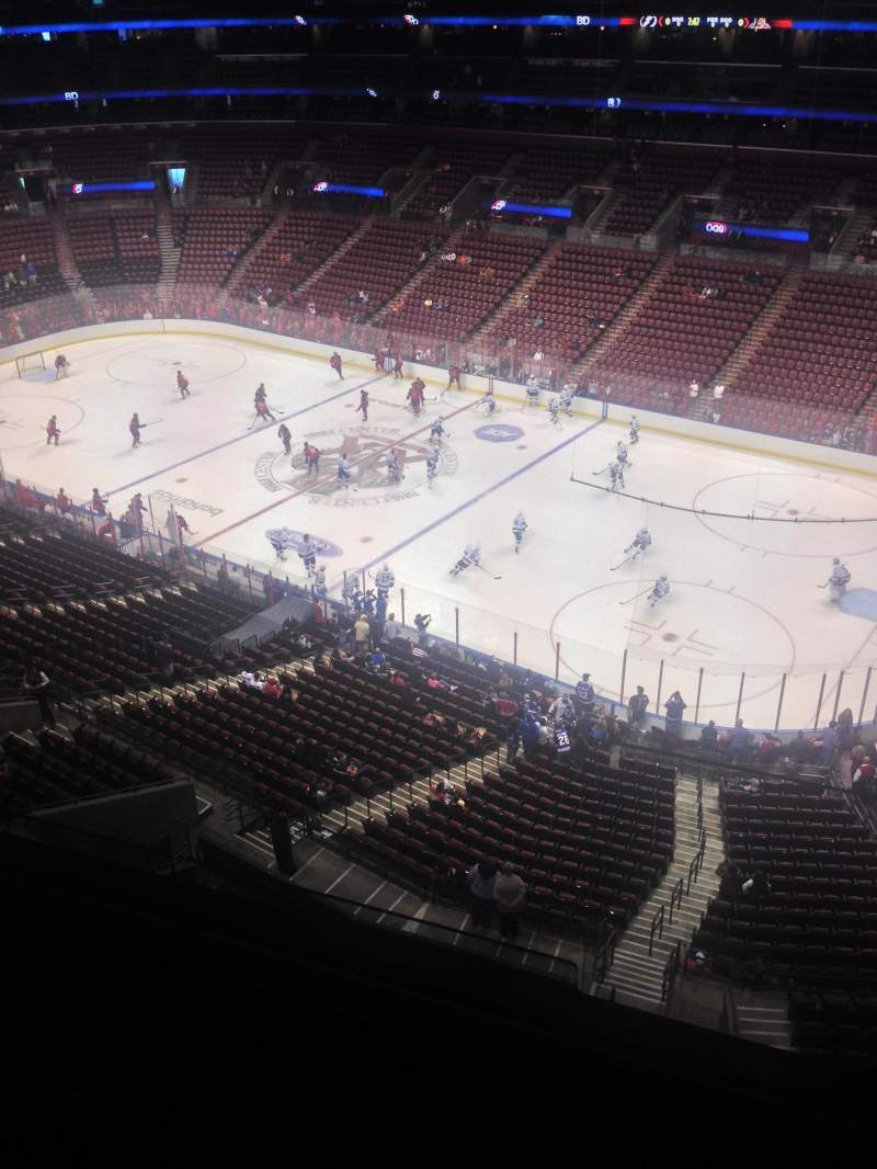 Seating view for BB&T Center Section 432 Row 2 Seat 1
