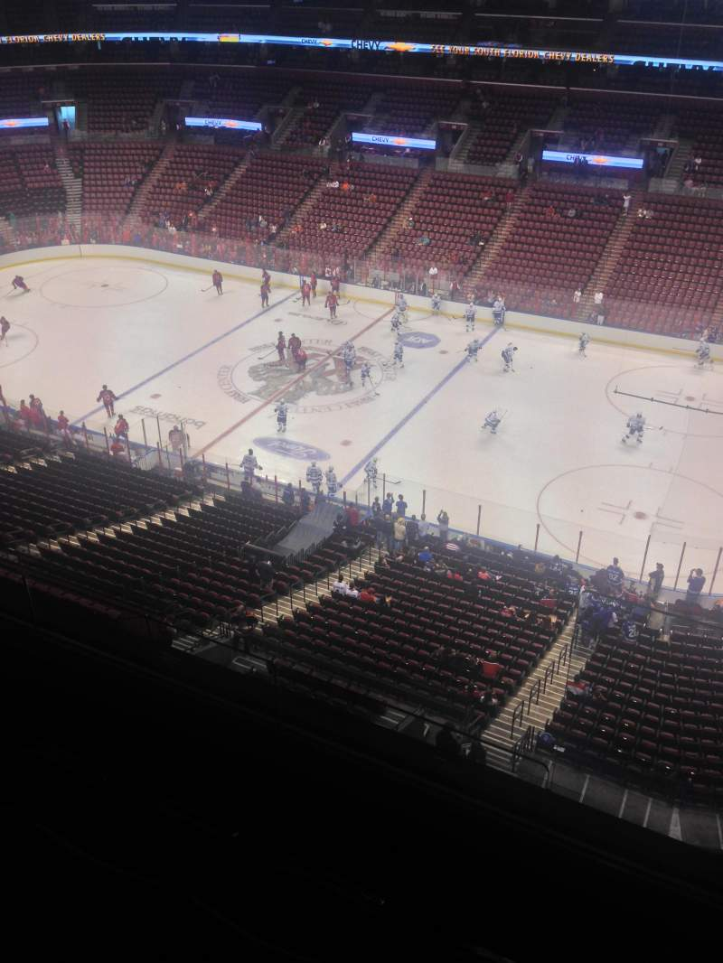 Seating view for BB&T Center Section 433 Row 2 Seat 1