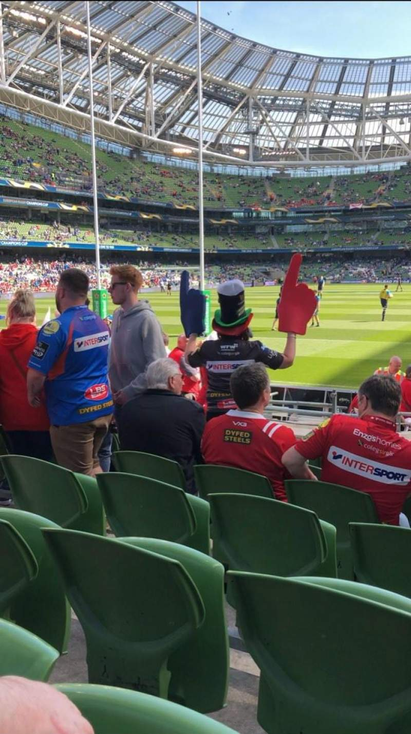 Seating view for Aviva Stadium Section 134 Row P Seat 10