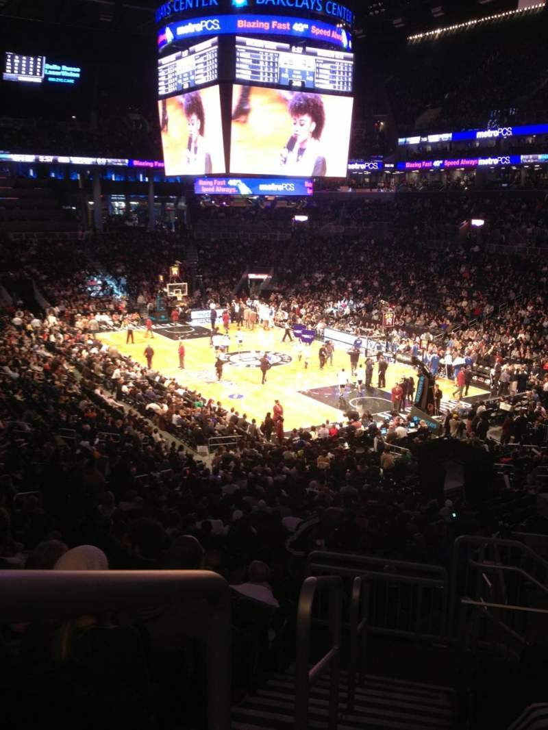 Seating view for Barclays Center Section 118 Row 9 Seat 21
