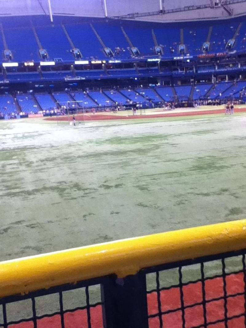 Seating view for Tropicana Field Section 147 Row T Seat 4
