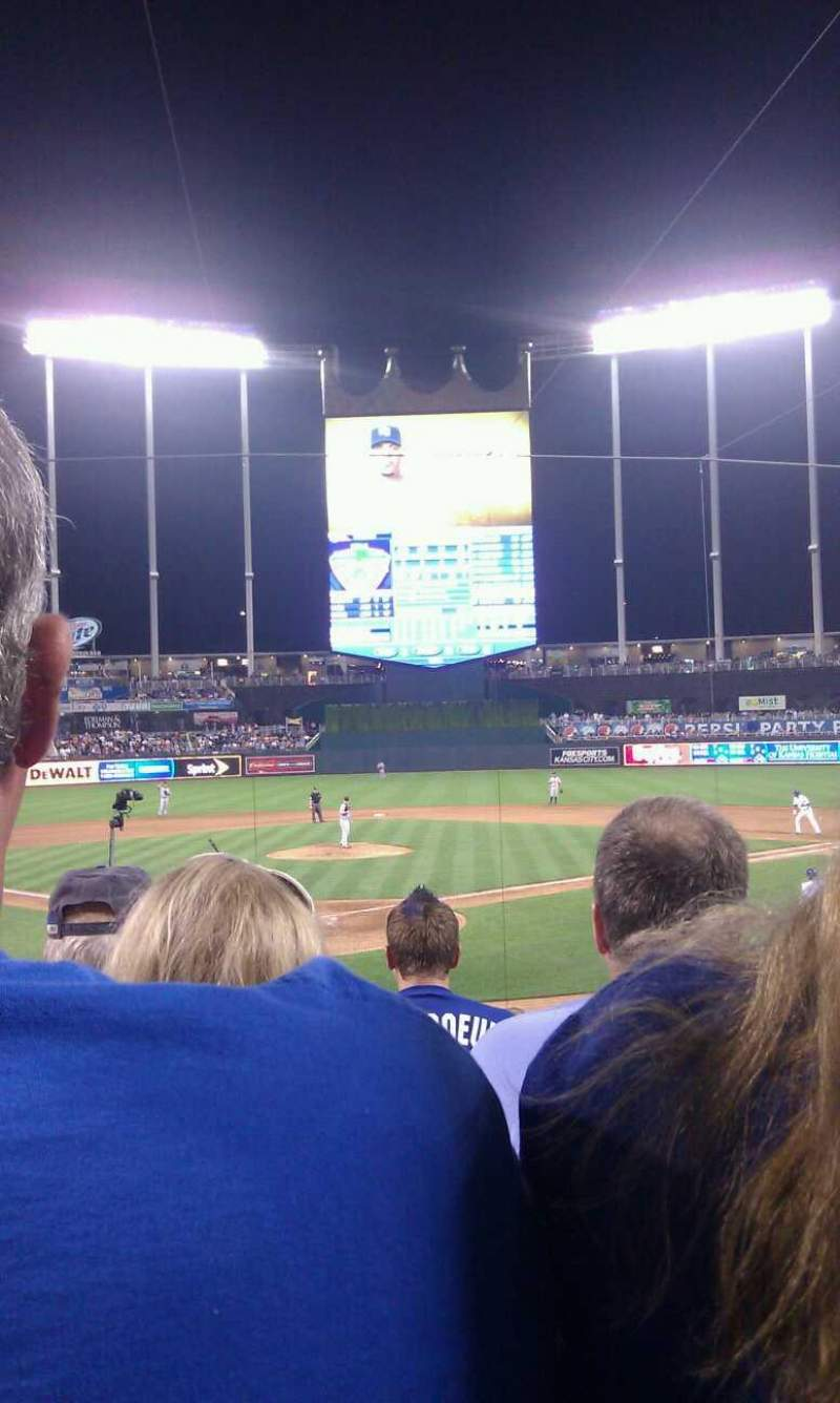 Seating view for Kauffman Stadium Section 129 Row F Seat 5