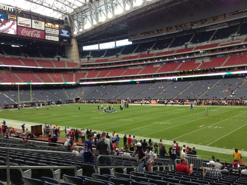 Seating view for NRG Stadium Section 122 Row T Seat 16
