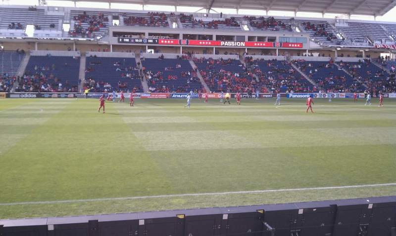 Seating view for Toyota Park Section 130 Row 5 Seat 19