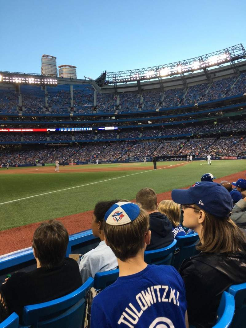 Seating view for Rogers Centre Section 130cr Row 3 Seat 10