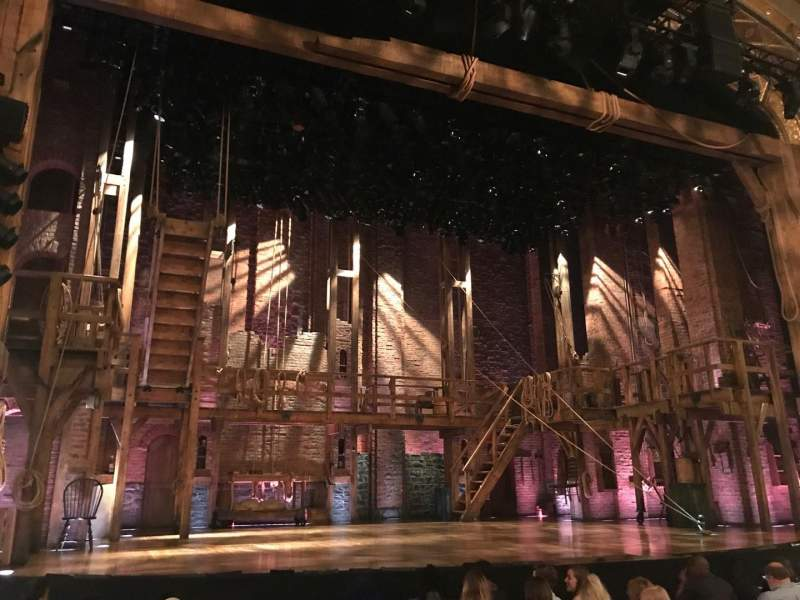 Seating view for Richard Rodgers Theatre Section Orchestra L Row H Seat 3
