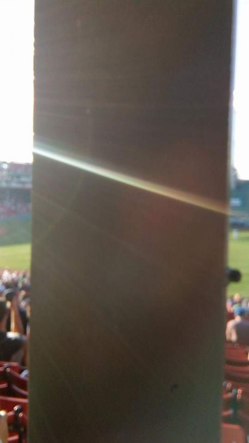 Seating view for Fenway Park Section Grandstand 8 Row 01 Seat 12