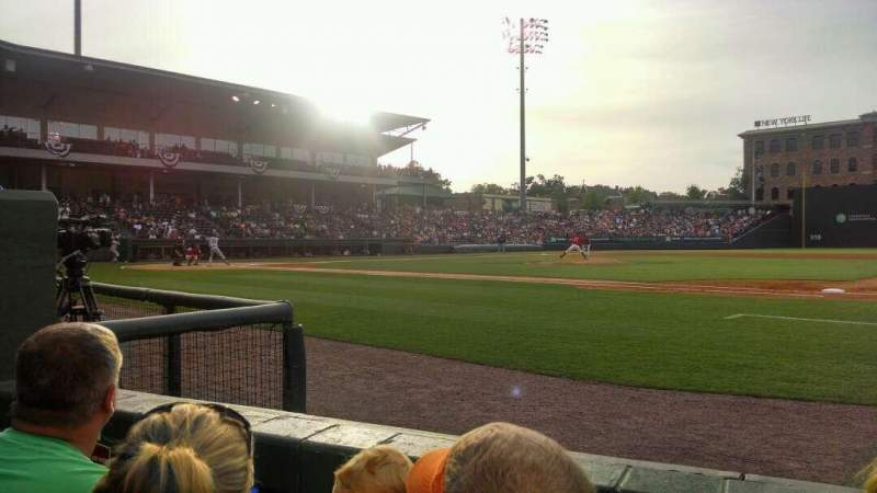 Seating view for Fluor Field Section 114 Row b Seat 17