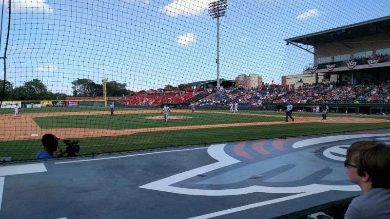 Seating view for Fluor Field Section 103 Row e Seat 14
