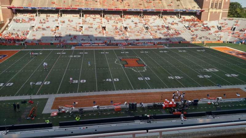 Seating view for Memorial Stadium (Champaign) Section 228 Row 4 Seat 16