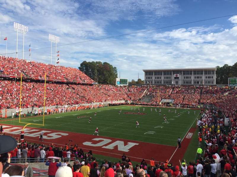 Seating view for Carter-Finley Stadium Section 219 Row H Seat 4