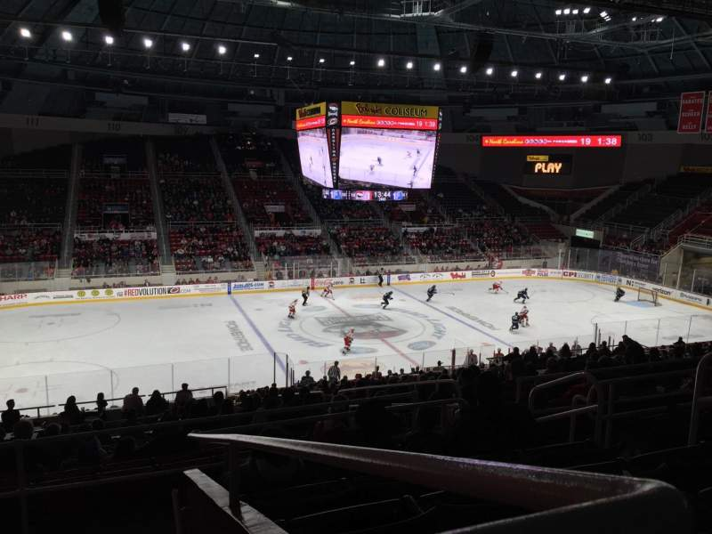 Seating view for Bojangles' Coliseum Section 121 Row Ff Seat 6