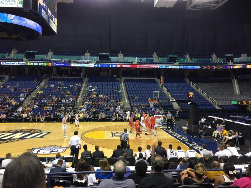 Greensboro Coliseum, section: 110, row: Ff, seat: 8