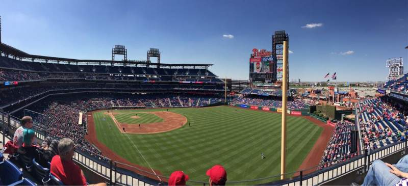 Seating view for Citizens Bank Park Section 307 Row 3 Seat 17