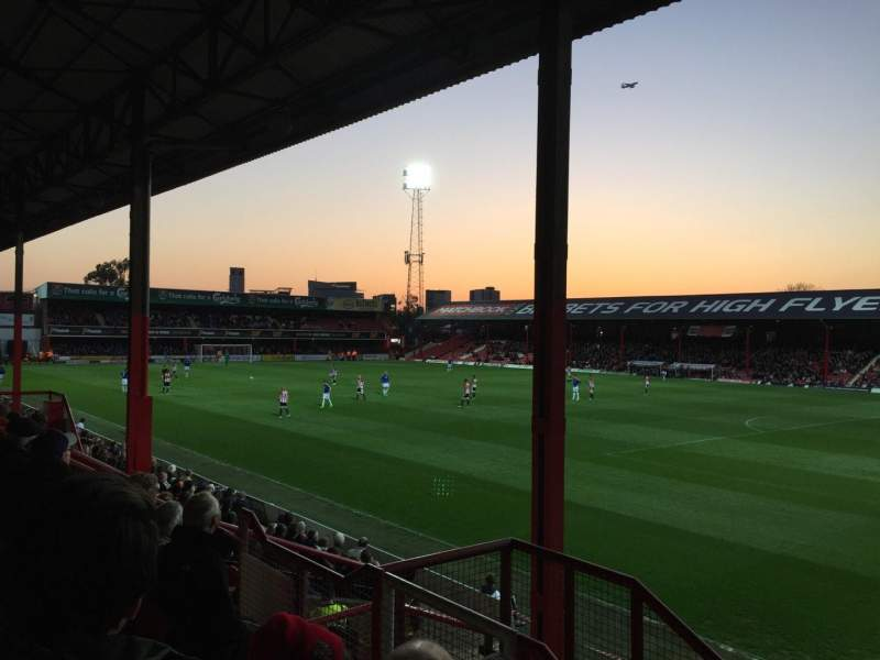 Seating view for Griffin Park Section B301 Row E Seat 0016