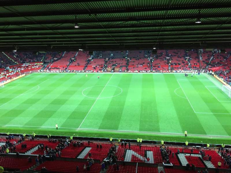 Seating view for Old Trafford Section N4406 Row 2 Seat 63