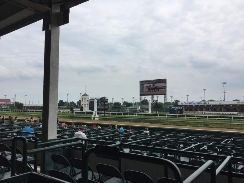 Seating view for Churchill Downs Section 115 Row H Seat 17