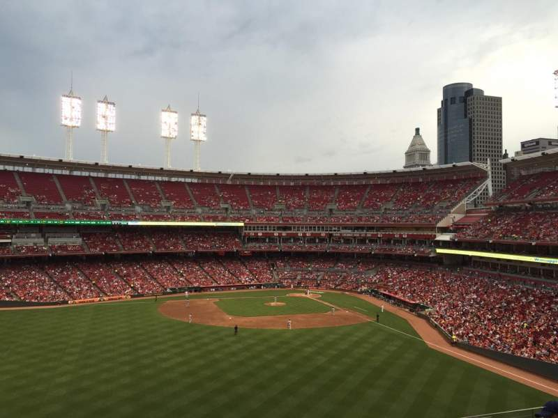 Seating view for Great American Ball Park Section 403 Row R Seat 11