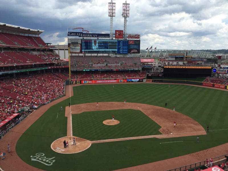 Seating view for Great American Ball Park Section 427 Row A Seat 1