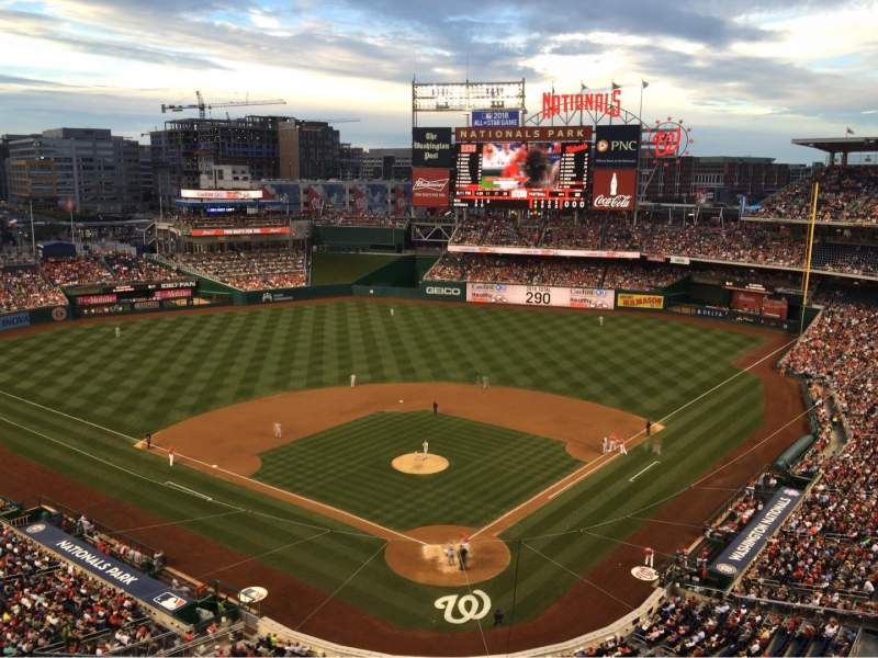 Seating view for Nationals Park Section 313 Row J Seat 12c