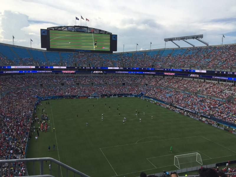 Seating view for Bank of America Stadium Section 531 Row 3 Seat 13