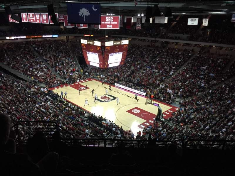 Seating view for Colonial Life Arena Section 204 Row 11 Seat 14