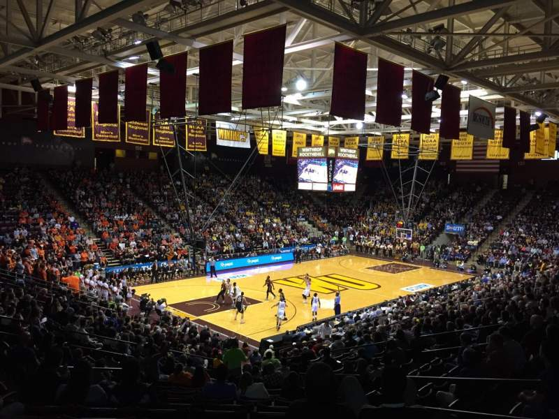Seating view for Winthrop Coliseum Section 119 Row U Seat 8
