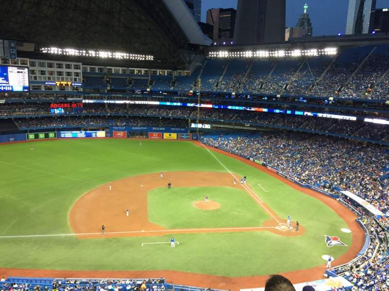 Seating view for Rogers Centre Section 530R Row 6 Seat 1