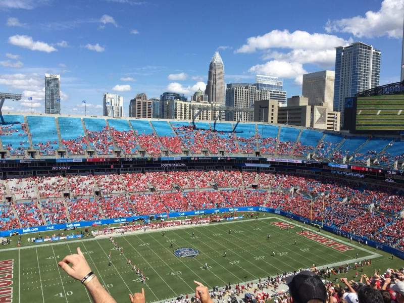 Seating view for Bank of America Stadium Section 545 Row 23 Seat 19