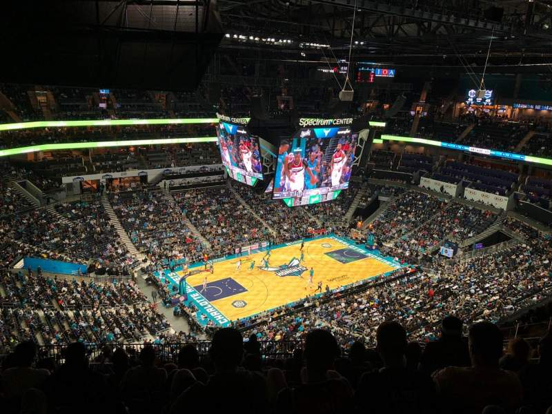 Seating view for Spectrum Center Section 229 Row P Seat 9