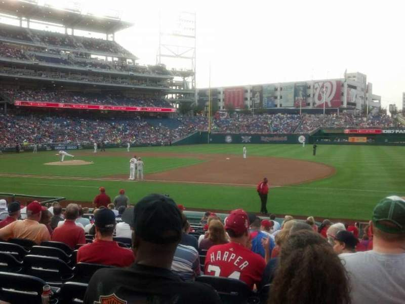 Seating view for Nationals Park Section 131 Row u Seat 5