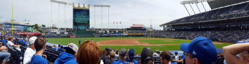 Seating view for Kauffman Stadium Section 119 Row G Seat 5