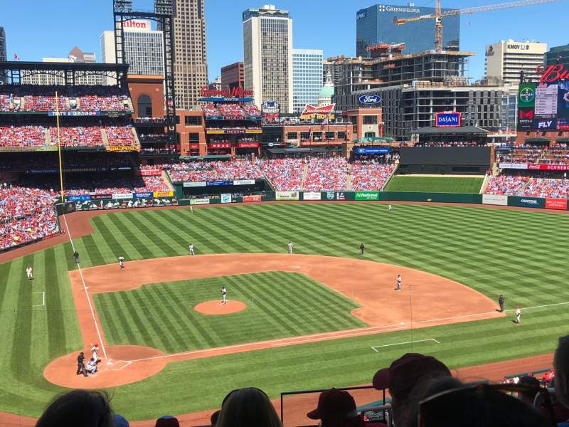 Seating view for Busch Stadium Section 247 Row 8 Seat 13