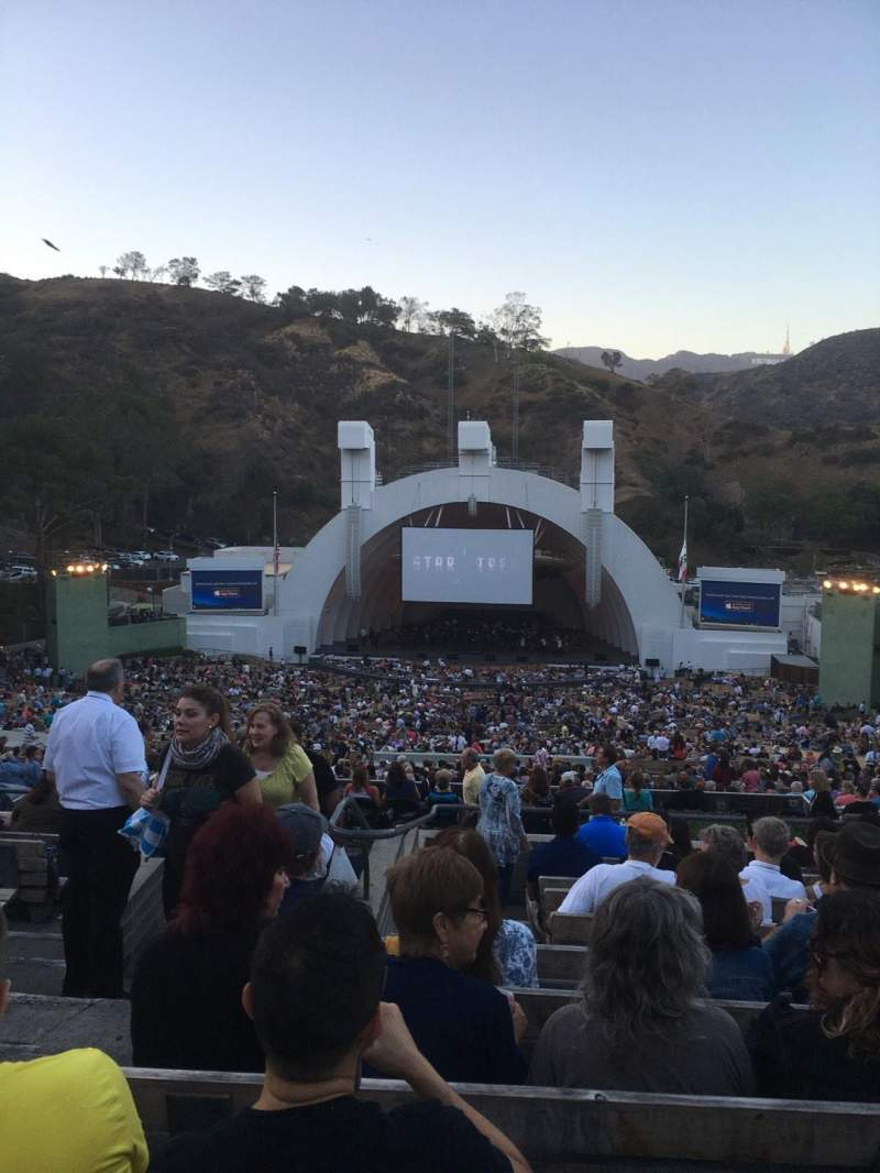 Hollywood Bowl Interactive Seating Plan