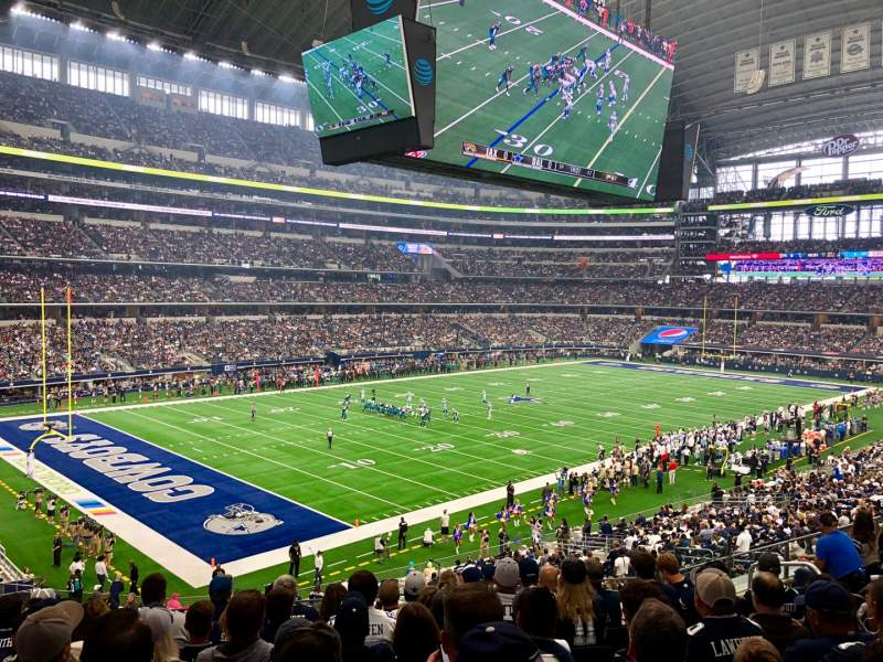 Seating view for AT&T Stadium Section 217 Row 9 Seat 10